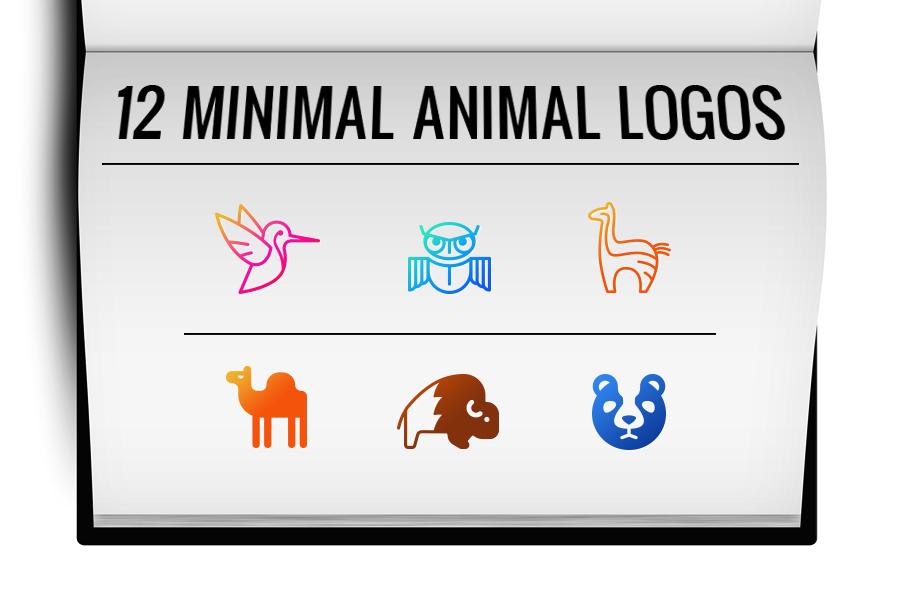 12 minimal animal logo template example image 2