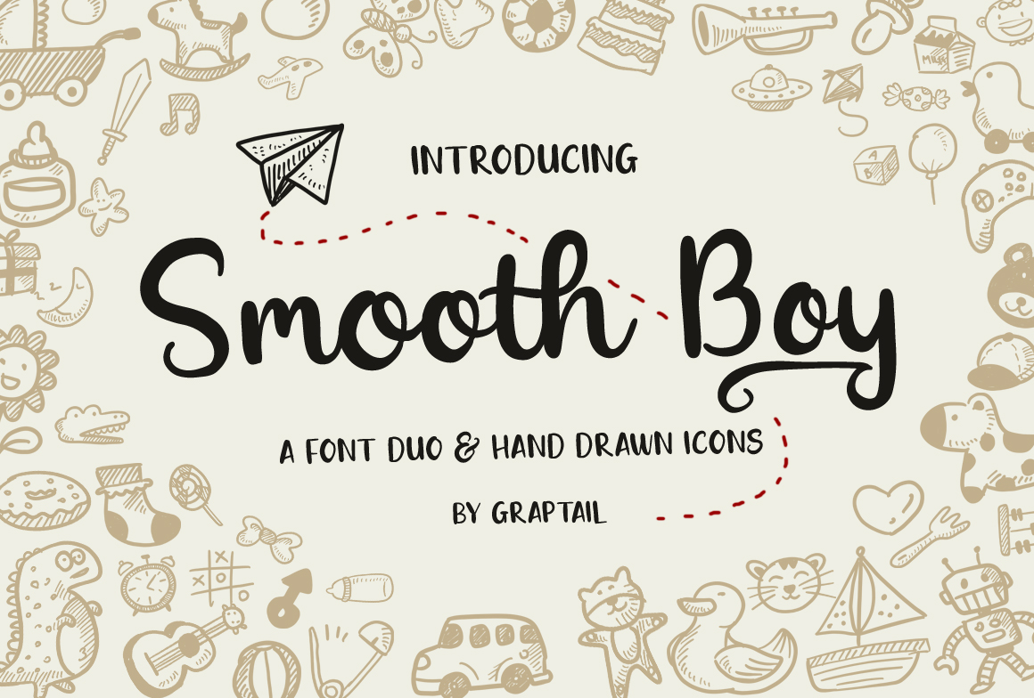 Smooth Boy - Fonts & Icons example image 1