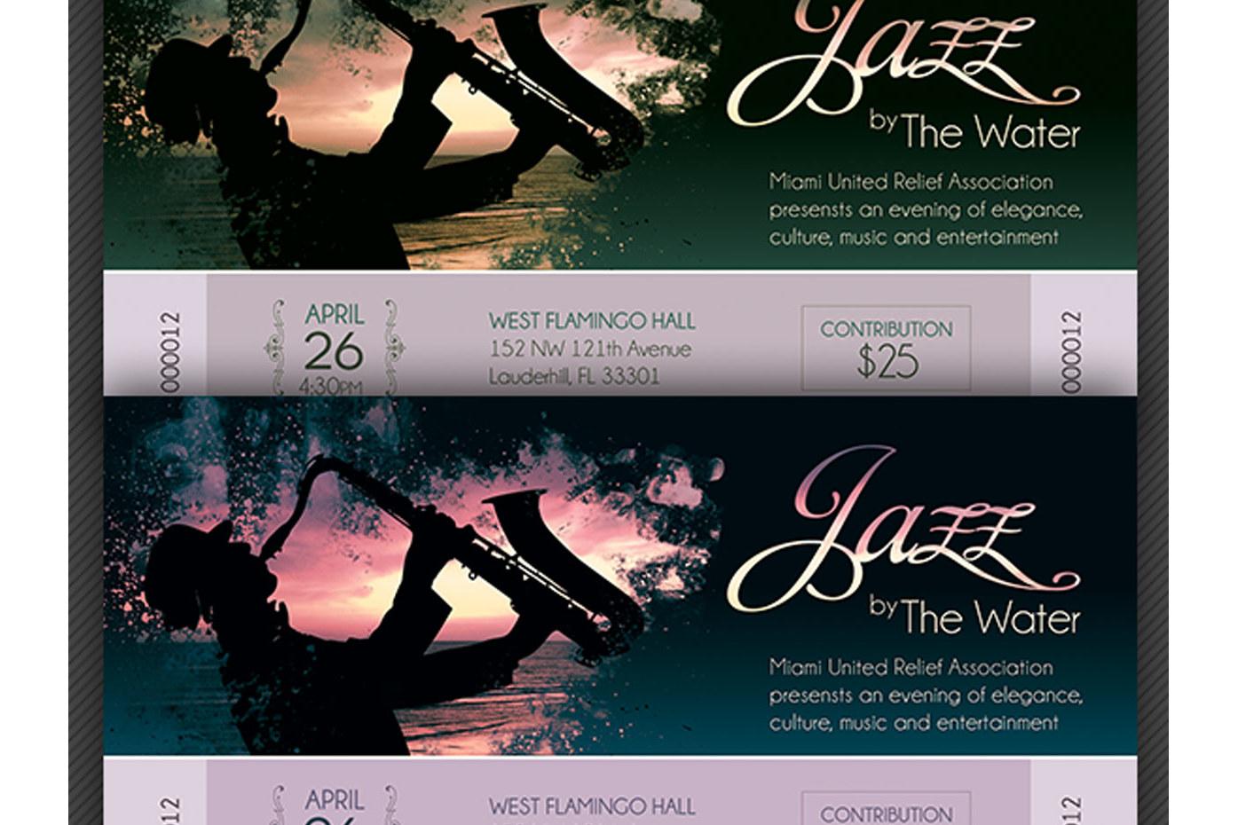 Jazz Concert Event Ticket Template example image 5