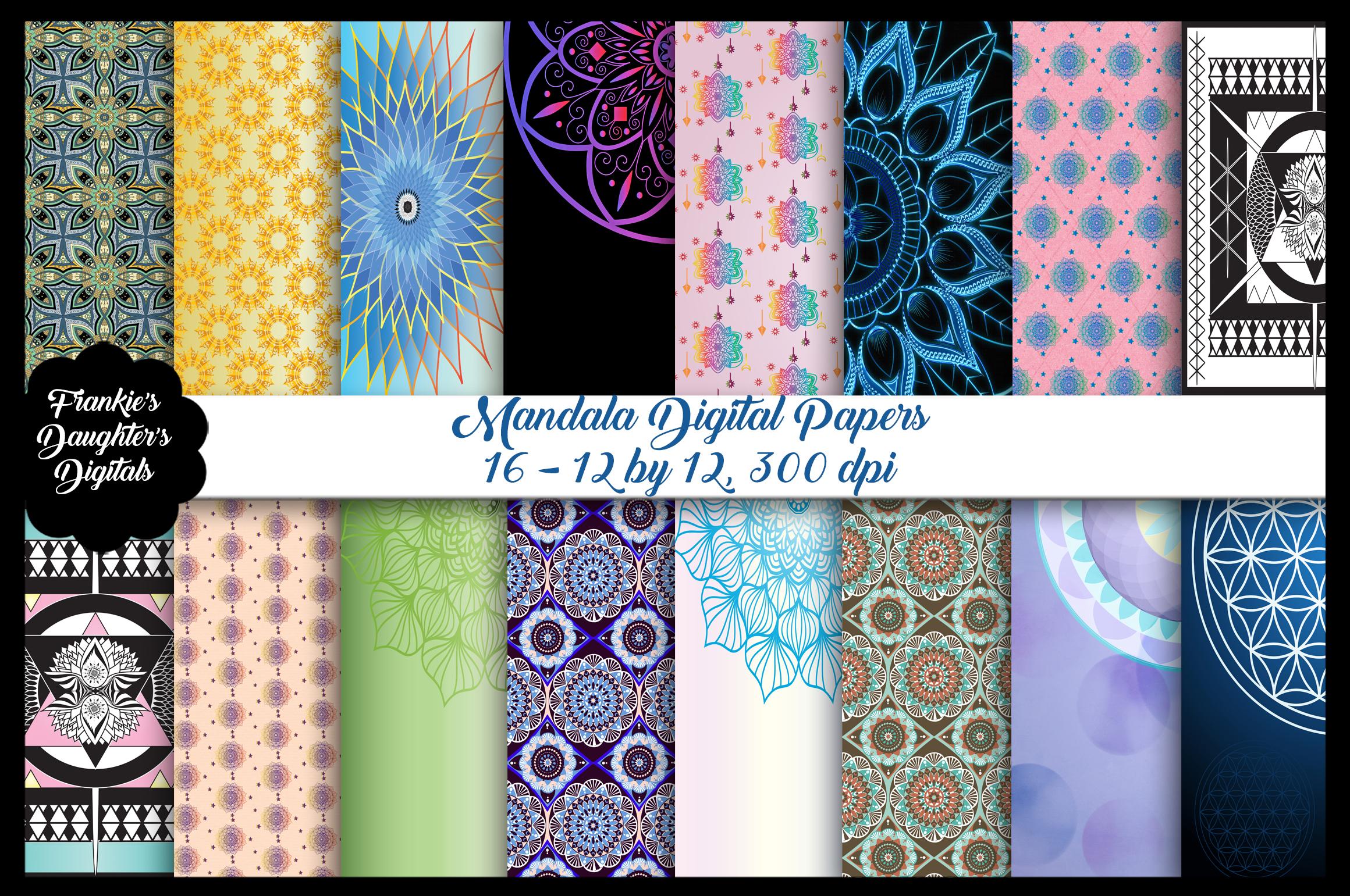Mandala Digital Papers example image 1