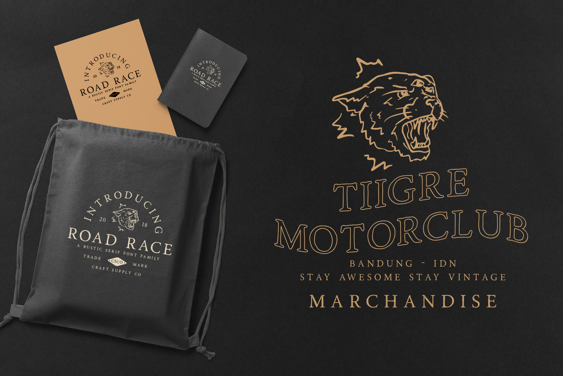Road Race Font Family Extras example image 6