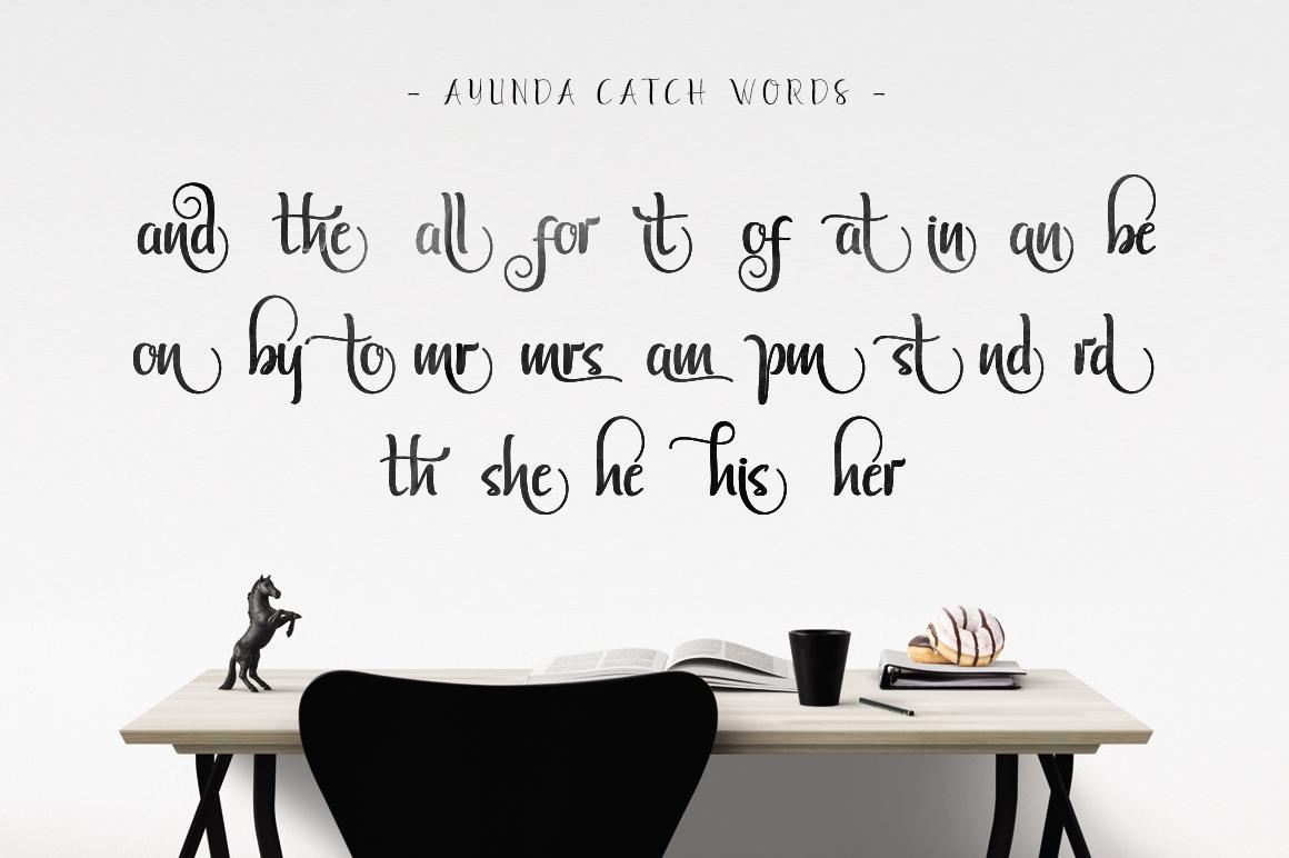 Ayunda Typeface example image 19