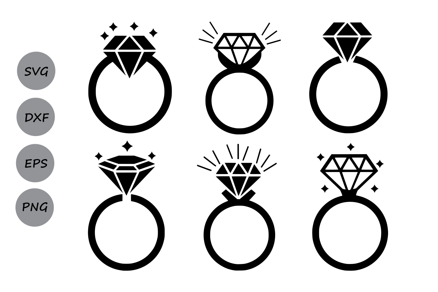 Diamond Ring Svg, Diamond Monogram Frame, diamond svg, Svg ...