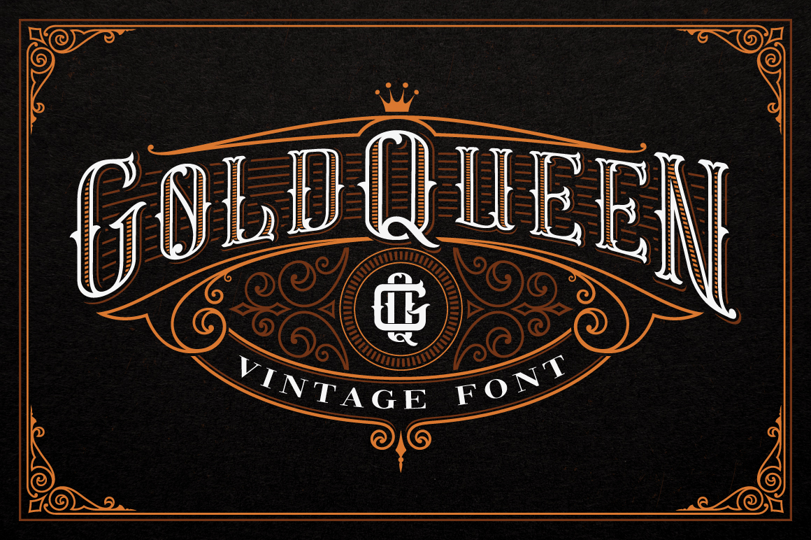 Gold Queen Vintage Font example image 1