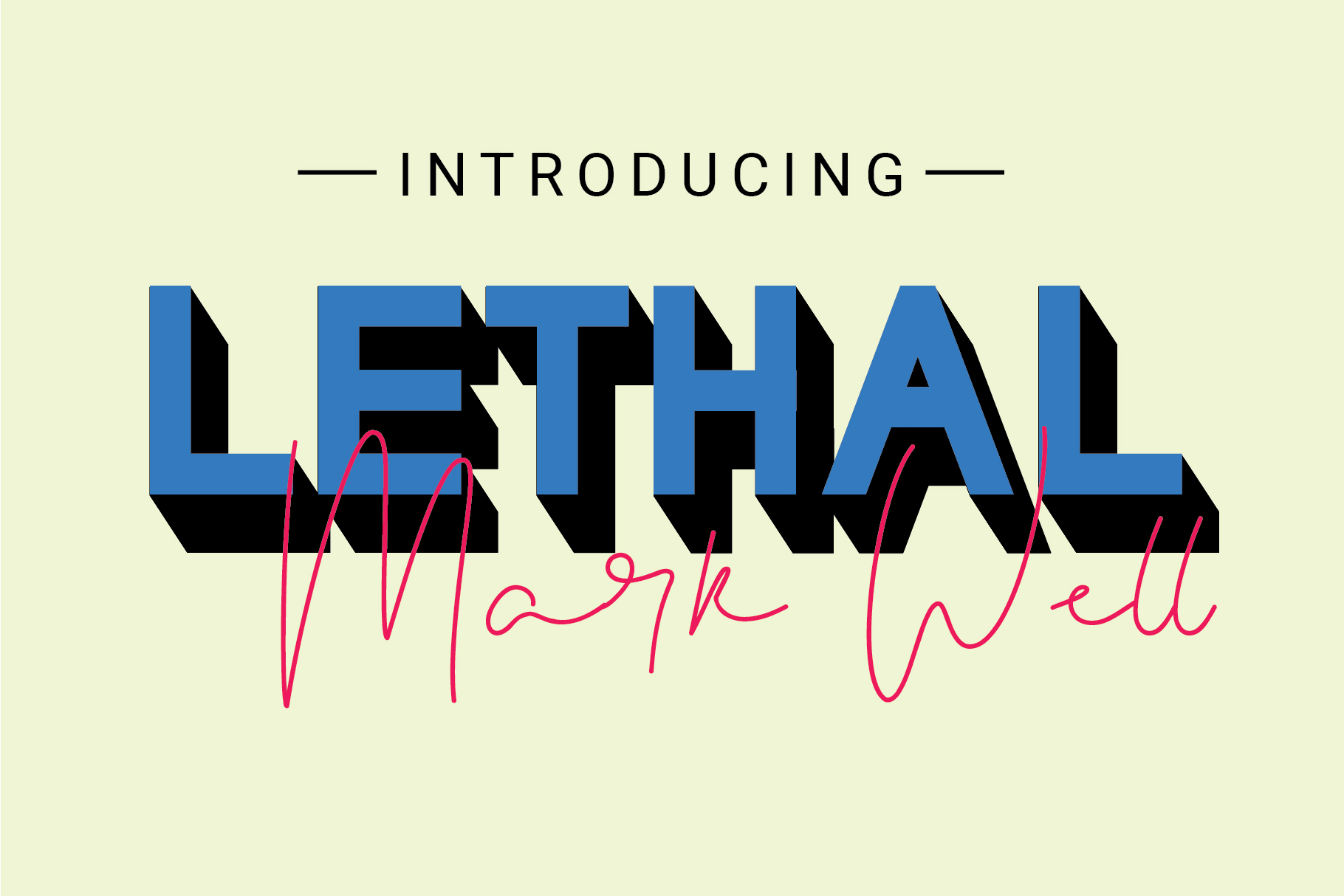 Lethal Markwell Duo Font example image 1