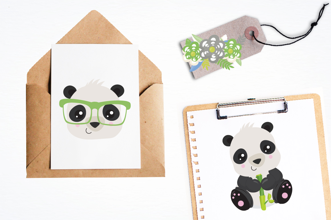 Hipster Pandas graphics and illustrations example image 4
