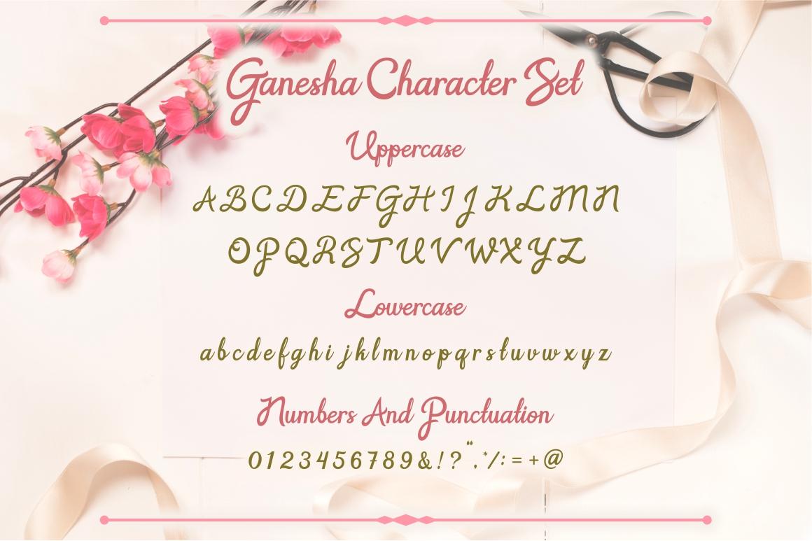 Ganesha - Wedding Font example image 2