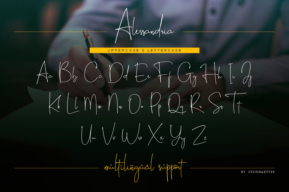 Alessandria Signature Font example image 10