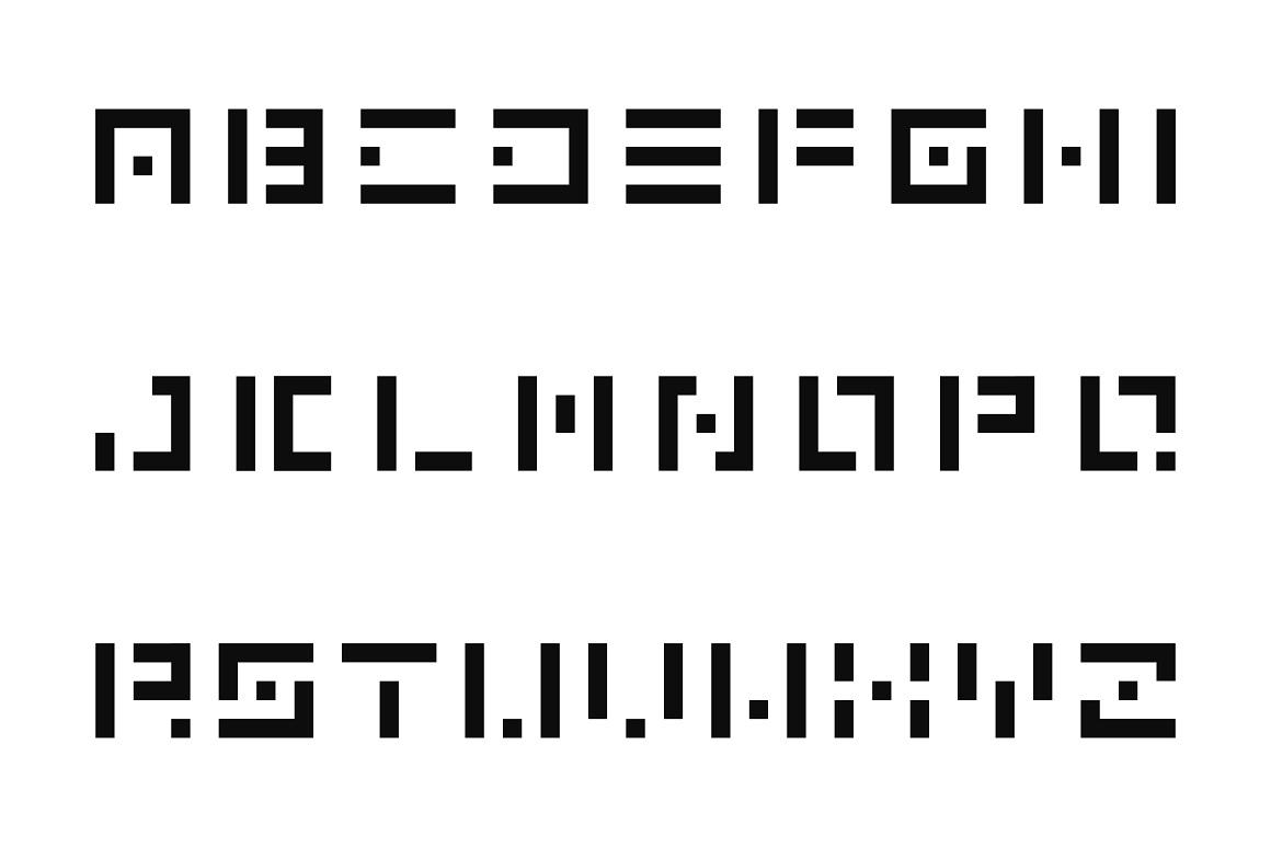 Digital font. English alphabet example image 4