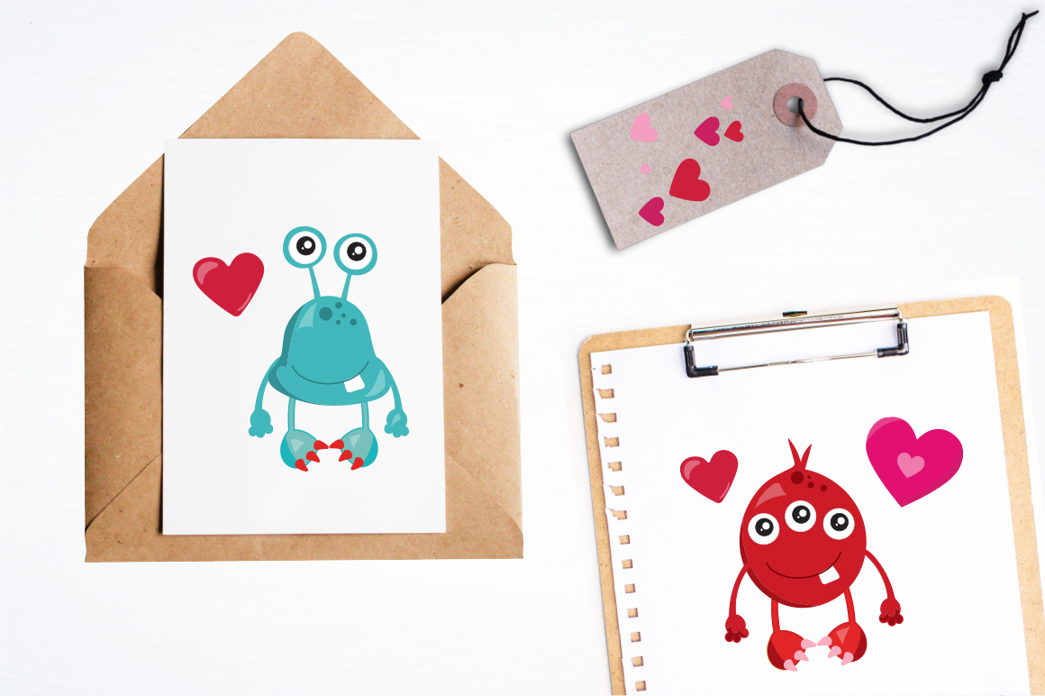 Love Monster graphic and illustrations example image 4