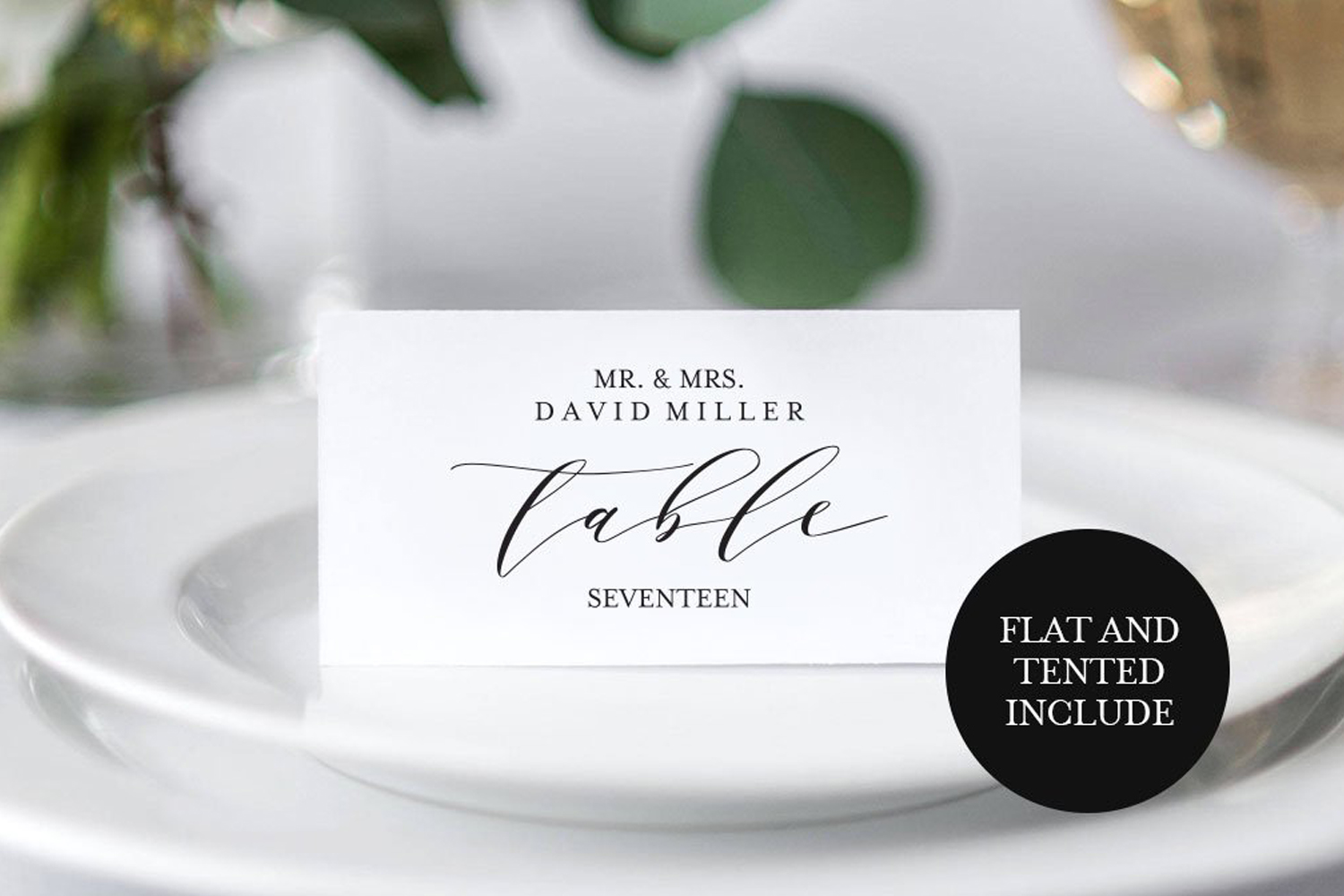 Place Card template example image 1