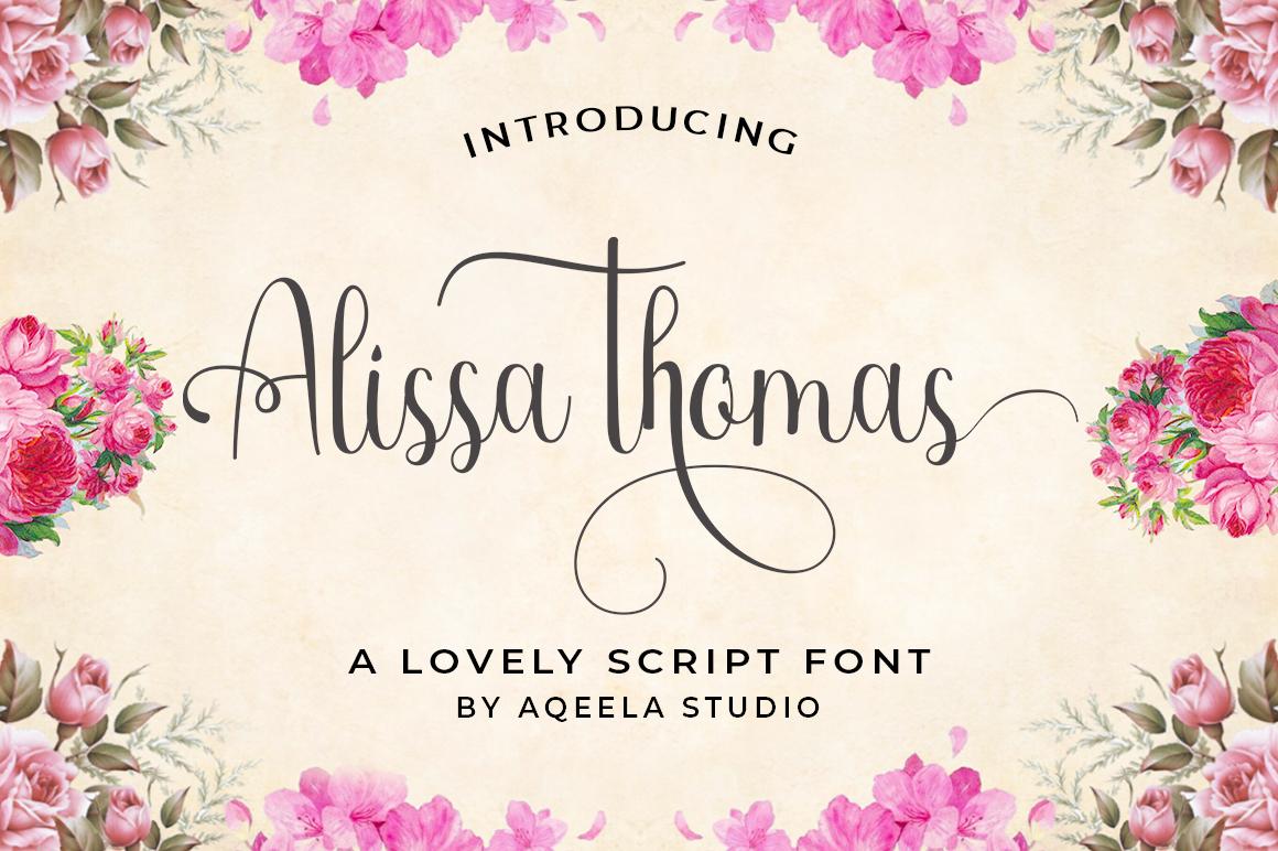 Alissa thomas Script example image 1