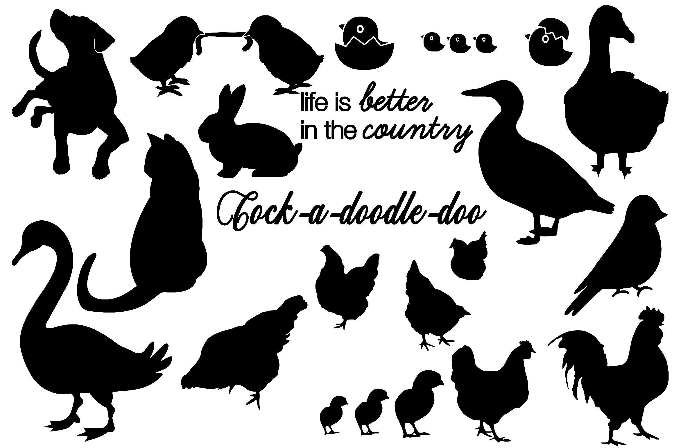 Farm & Animals Silhouettes AI EPS PNG example image 2