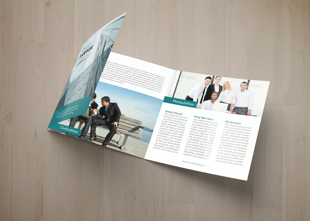 Employment Business Square Trifold Brochure example image 4