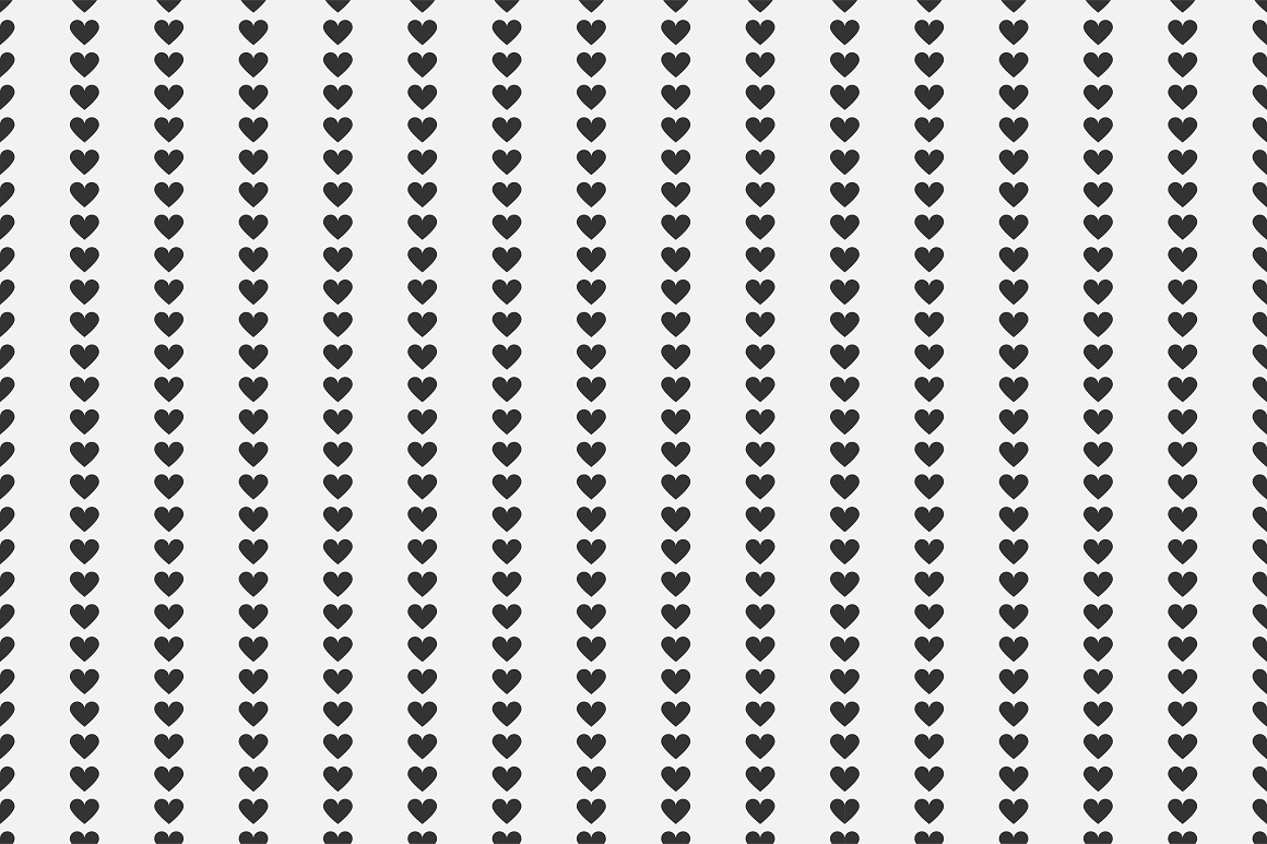 Set of seamless patterns with hearts example image 14