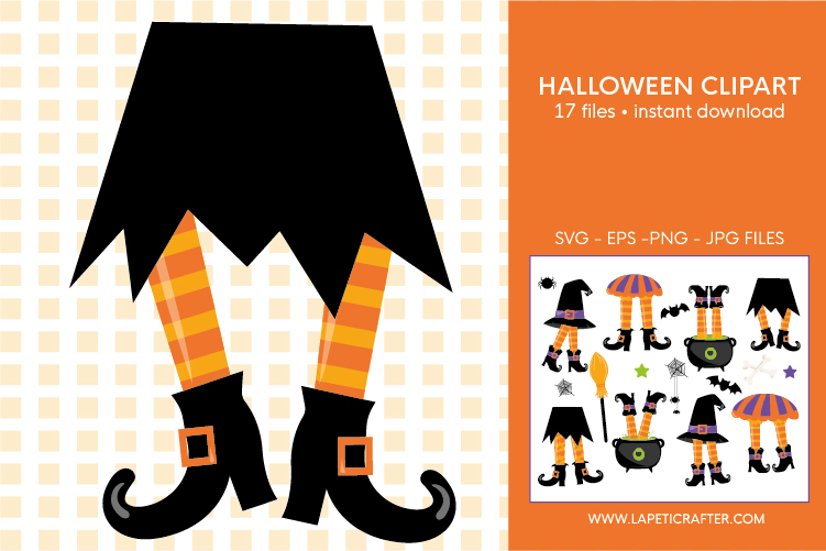 Halloween witch legs clipart, wicked witch party decorations example image 8