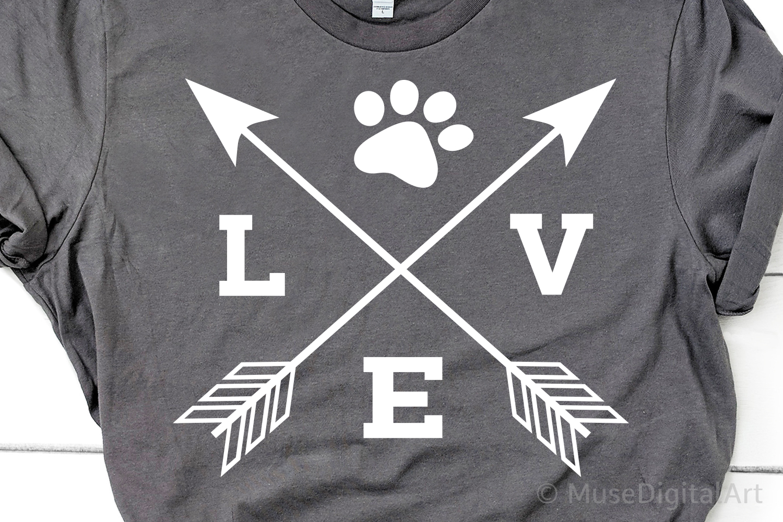 Love with Paw Svg, Fur Mom Svg, Dog Mom Svg, Cat Mom Svg example image 1
