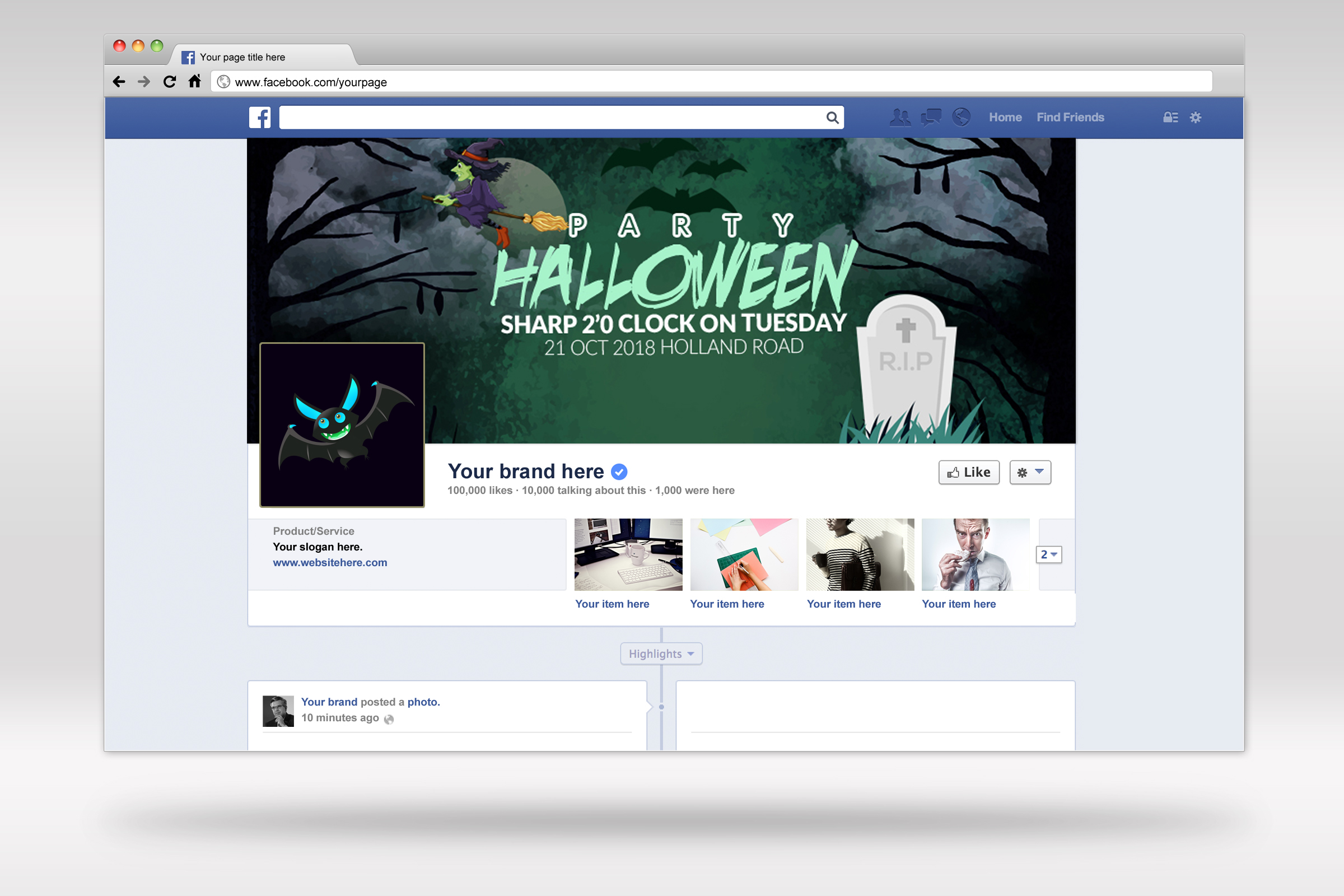 Halloween Night Facebook Timeline Cover example image 2