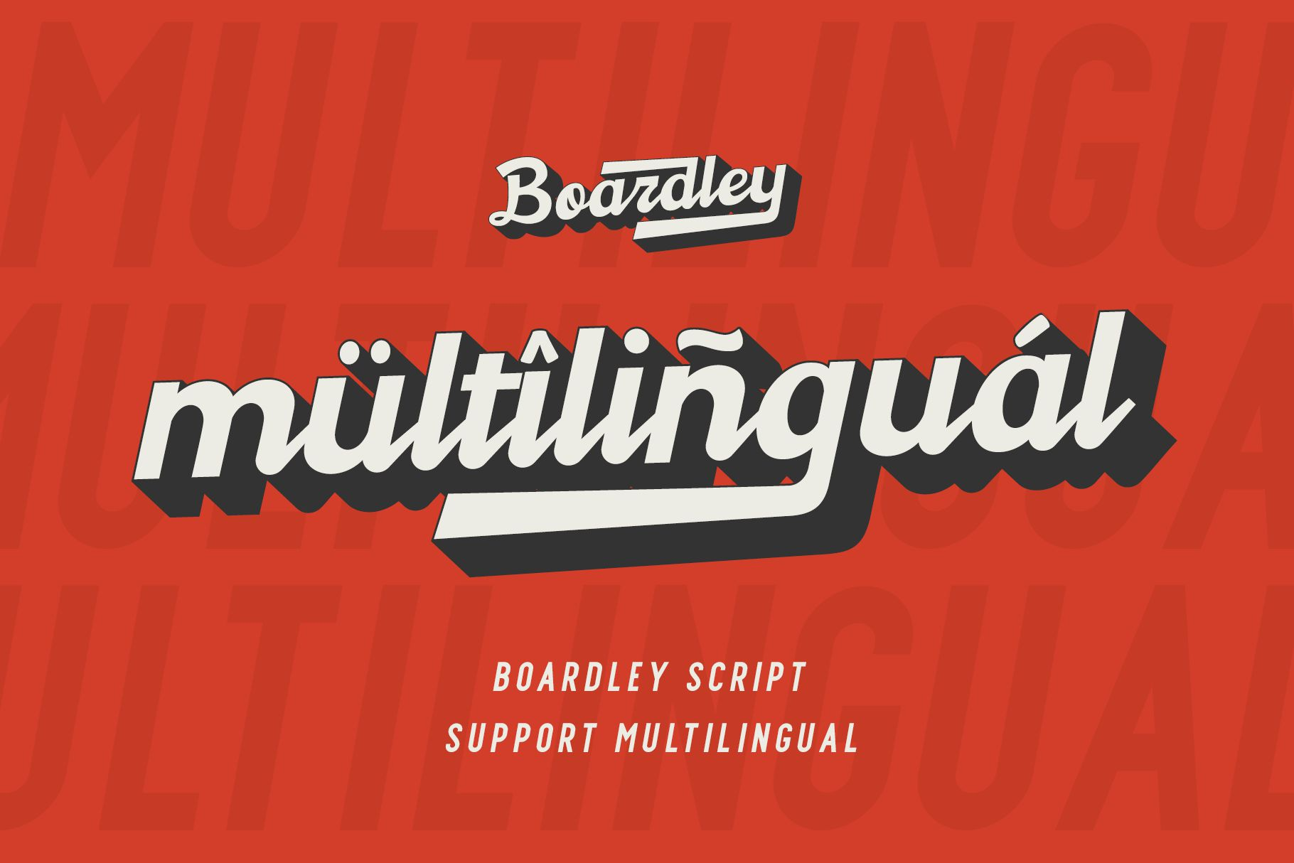 Boardley Script - Layered Font example image 7