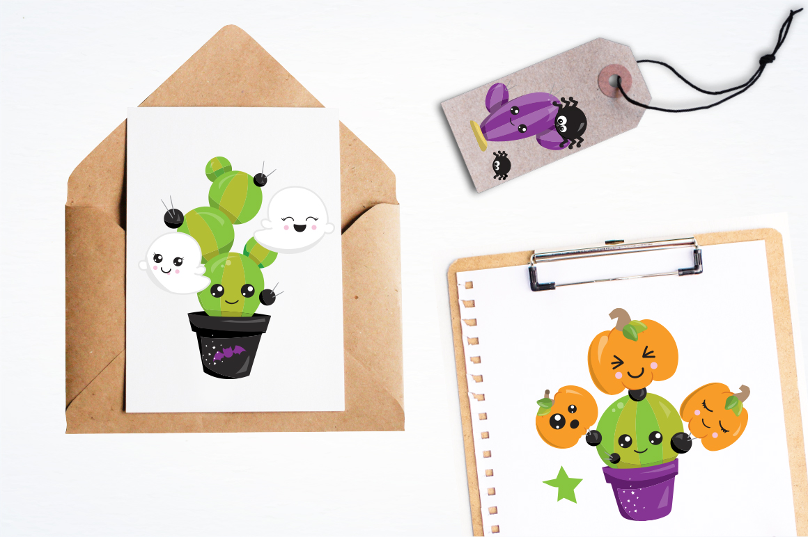 Halloween Pots graphic and illustrations example image 2