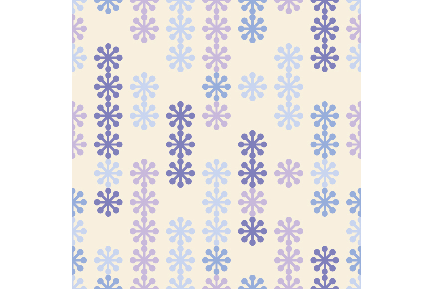 Set of 12 seamless backgrounds with decorative snowflakes.  example image 5