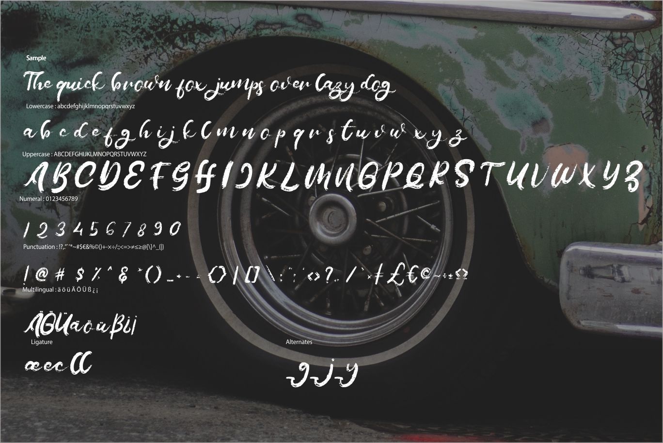 Melage   Retro Rogh Script Font example image 6