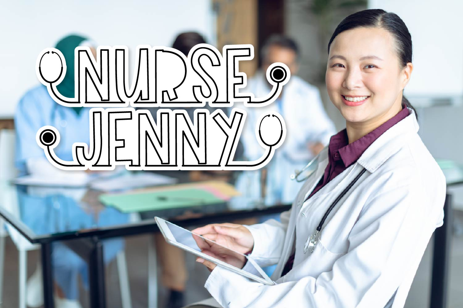 Clinicals - A Stethoscope Font Perfect for Nurses! example image 4