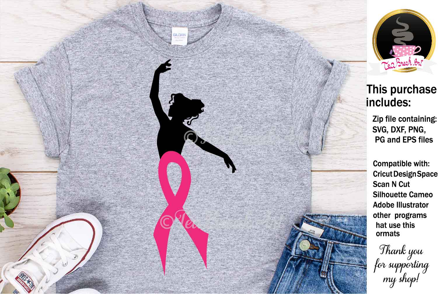 Breast Cancer Awareness Cutting Files 1087 example image 1