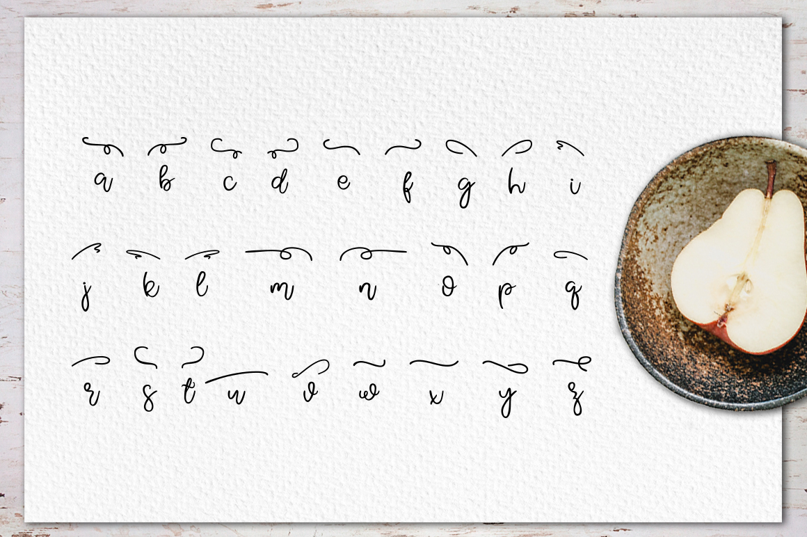 Pear Dragon.Sweet font duo&extras example image 12