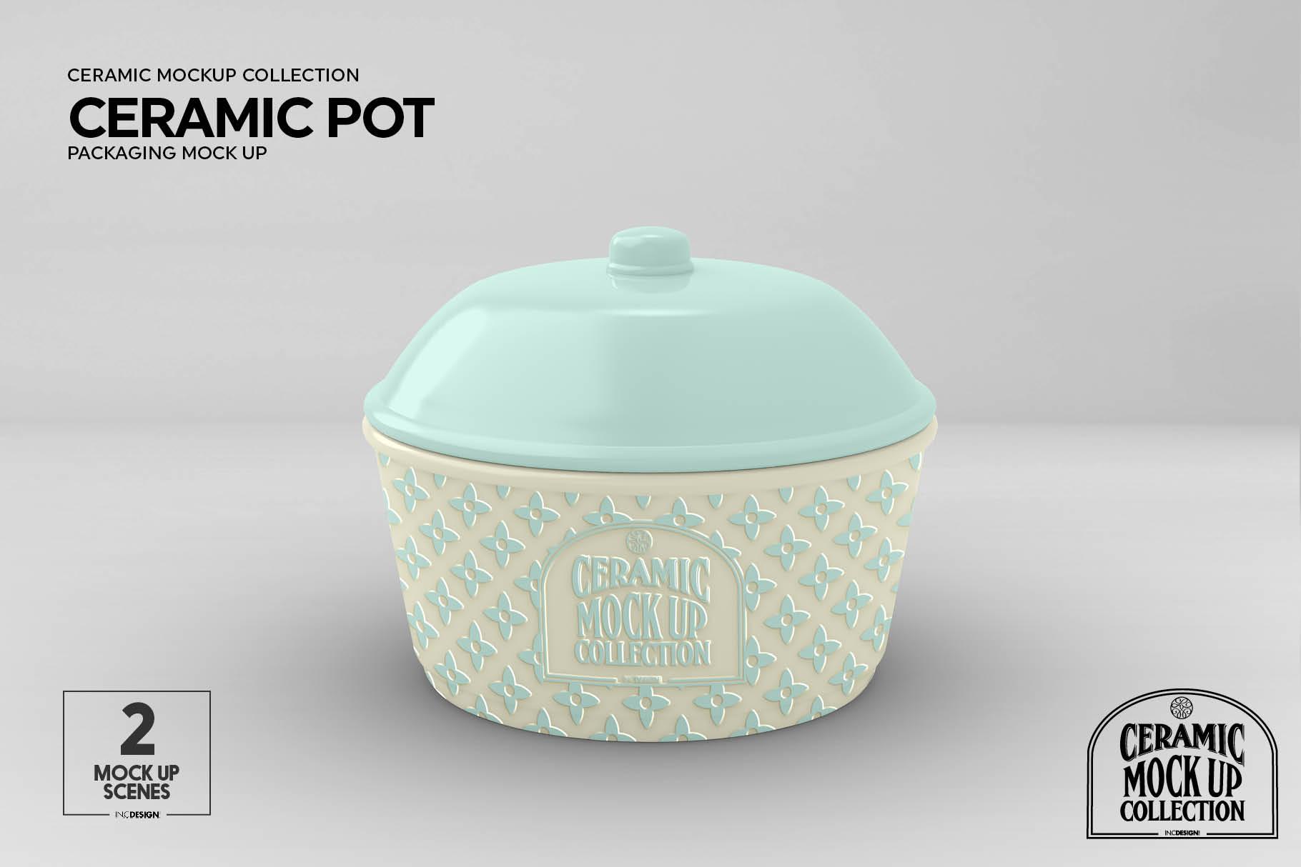 Ceramic Pot Packaging Mock Up example image 8
