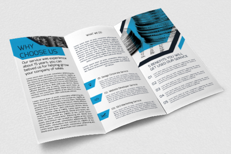 Modern Business Trifold Brochure Photoshop Template example image 4