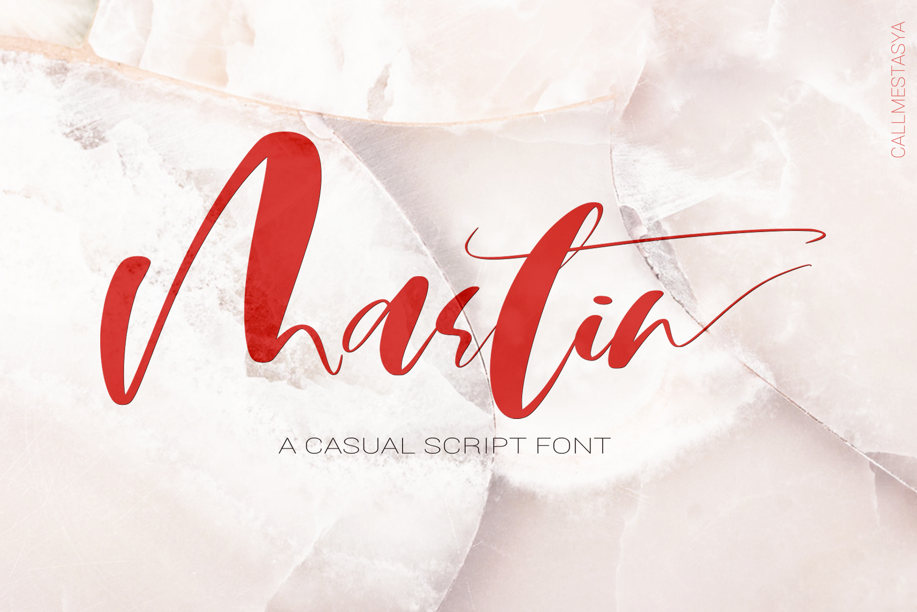 Martin Script Font example image 1