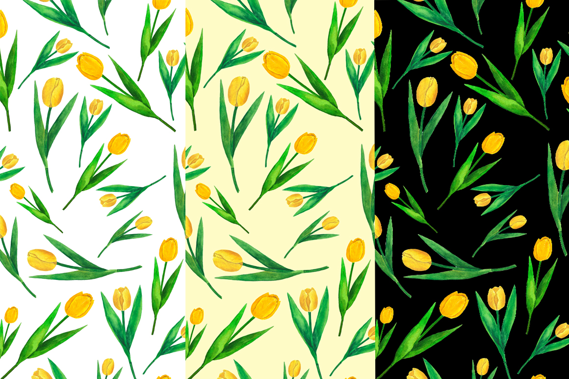 Flowers Tulips Watercolor example image 8