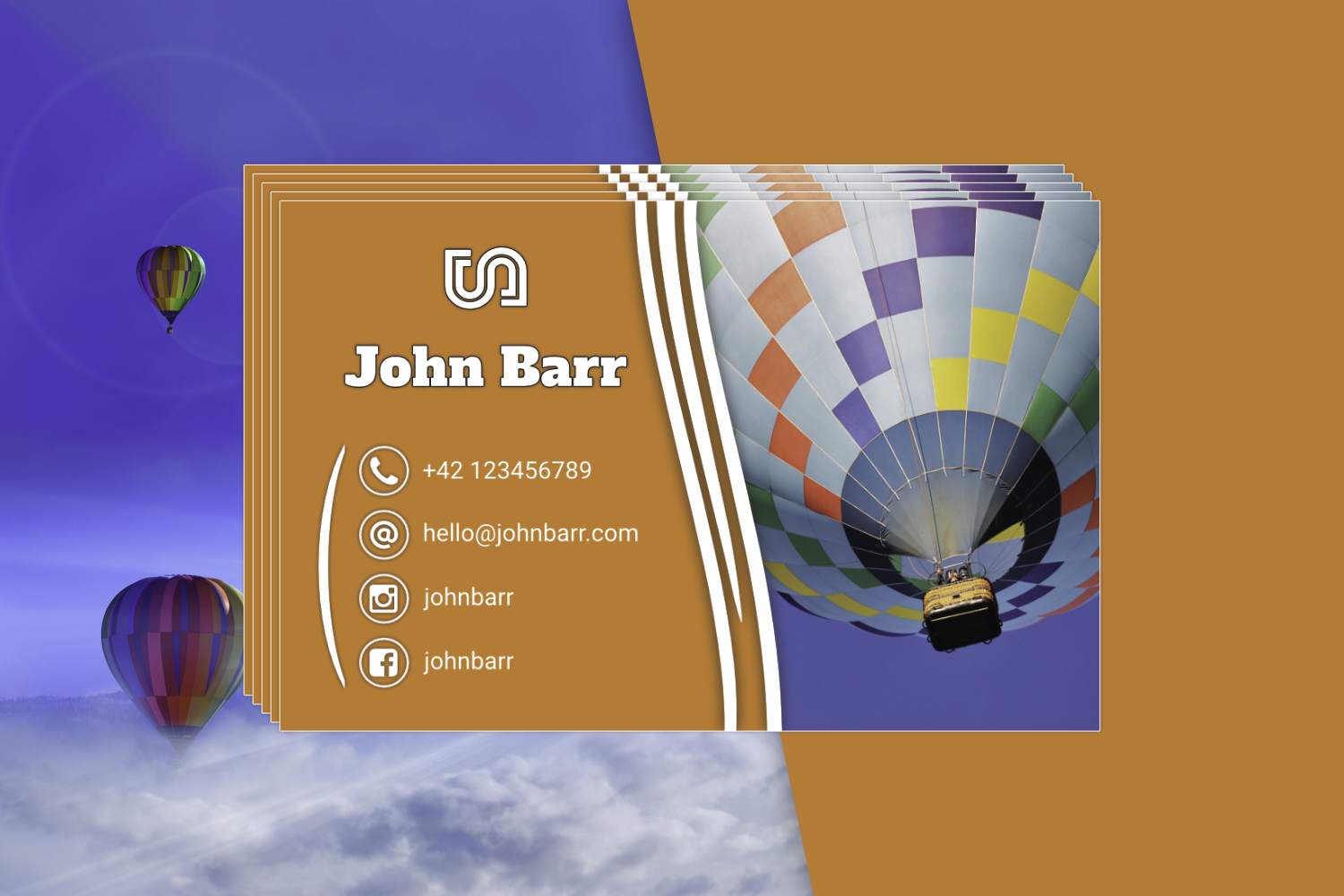 12 Sport Business Card Templates example image 8