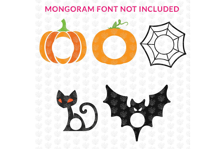 Big SVG Bundle - 31 Halloween Monogram Frame SVG EPS DXF PNG example image 2