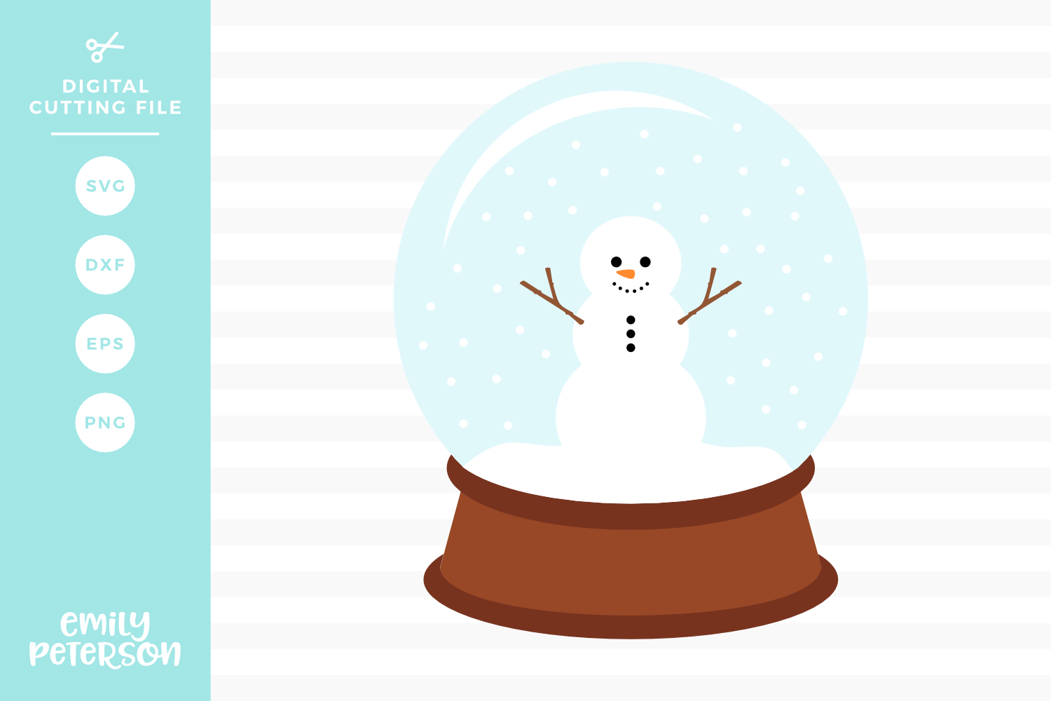 Snow Globe SVG DXF EPS PNG example image 1