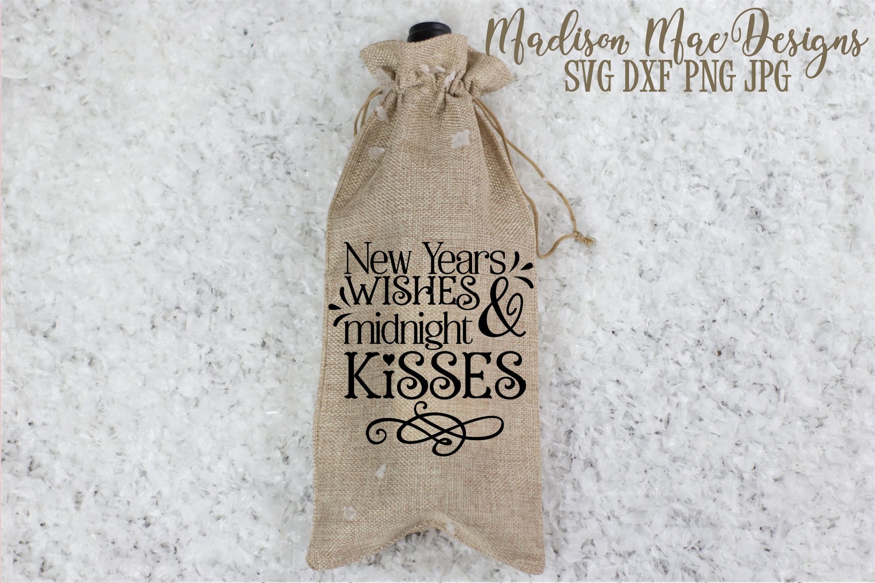 New Years Wishes and Midnight Kisses SVG, Holiday SVG example image 2