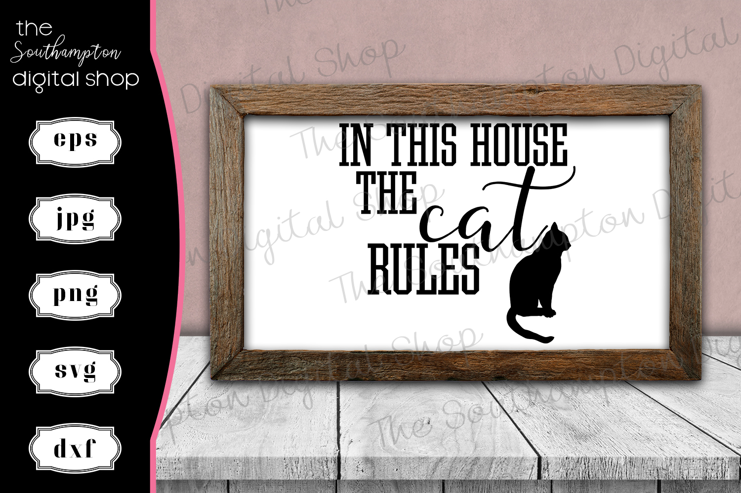 In This House The Cat Rules example image 1