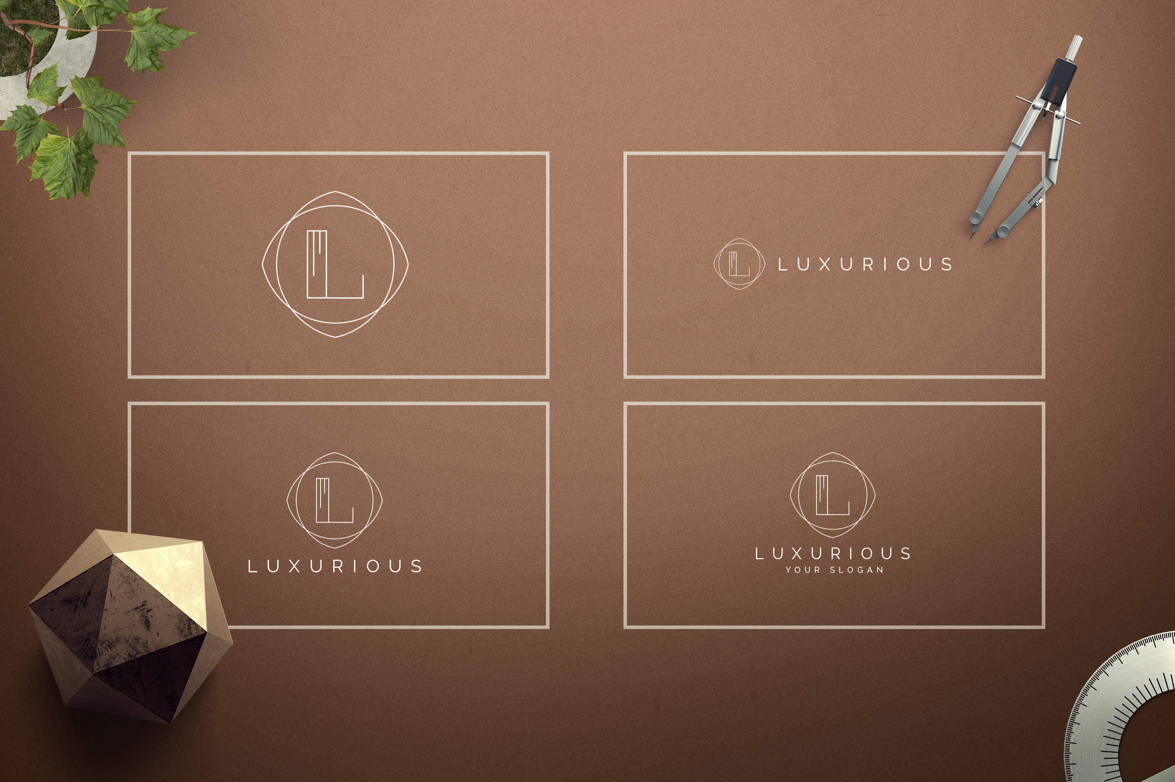 Geometric Letters and Logo Designs example image 13