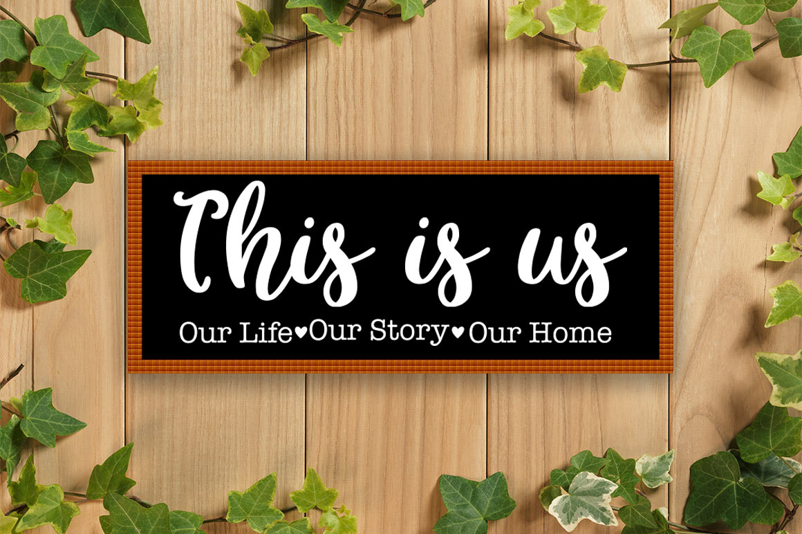 This Is Us SVG, Family SVG, This Is Us Cut File, Home SVG example image 3