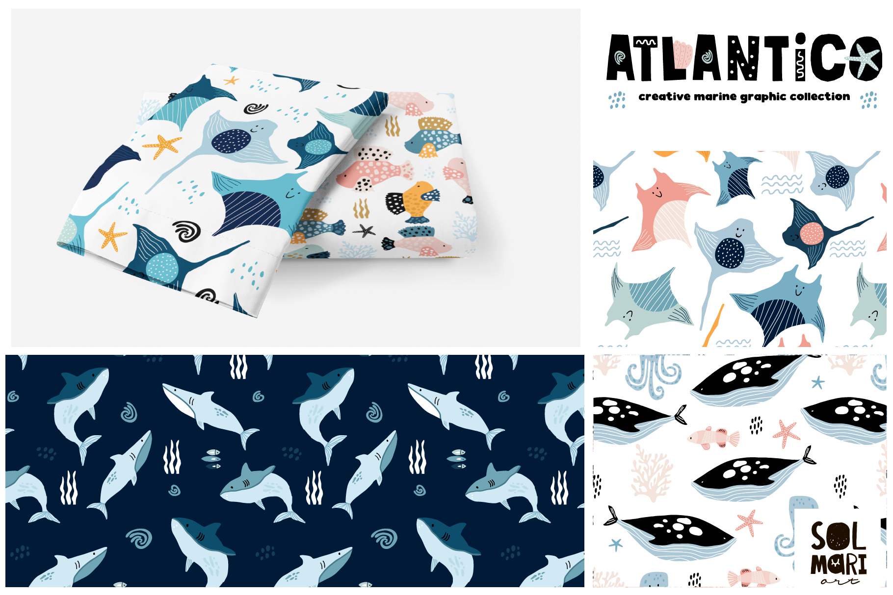 ATLANTICO. Marine graphic collection example image 7