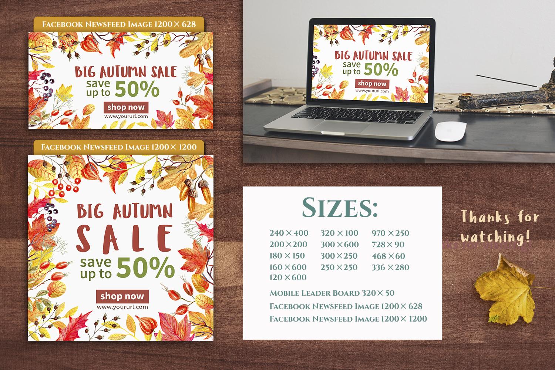 Autumn Sale Web Banners Set example image 4