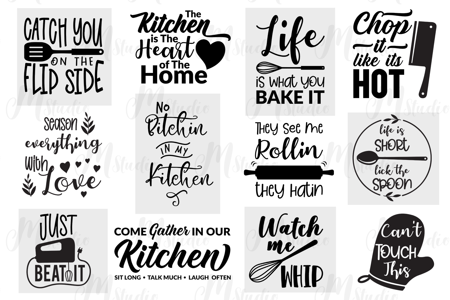 Kitchen Quotes svg bundle example image 2