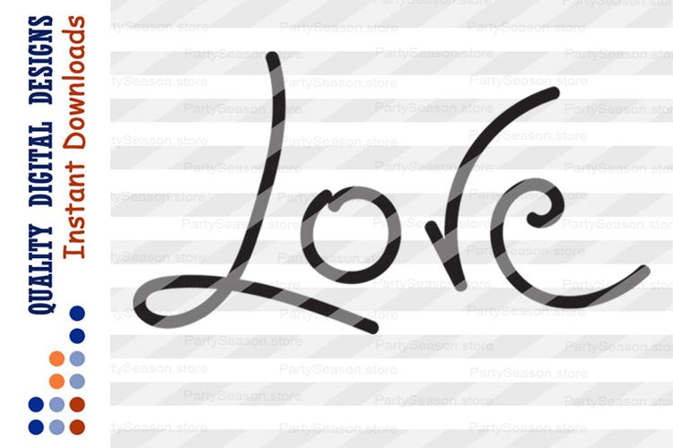Love Svg Files Love Sign Cursive Dxf Clipart Commercial Use 135653 Paper Cutting Design Bundles