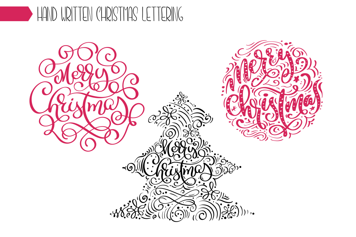 Christmas Lettering Phrases svg example image 2