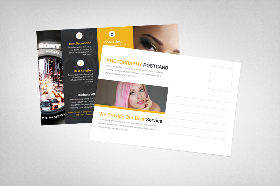 Photography Studio Postcard Template example image 2
