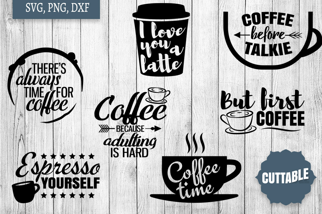 Coffee SVG Bundle, Coffee Cut Files, Coffee SVG quotes example image 3