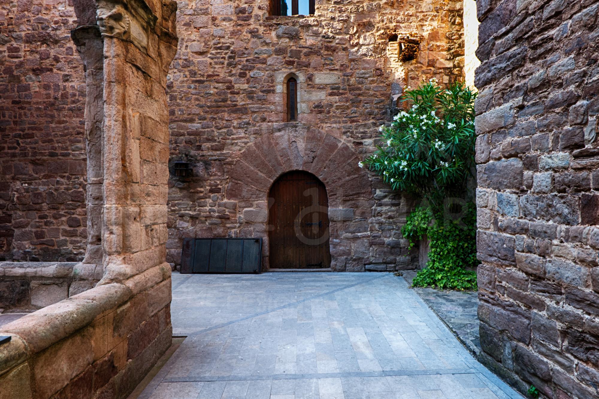 Inner Courtyard Of Cardona Castle 4- Photo example image 1