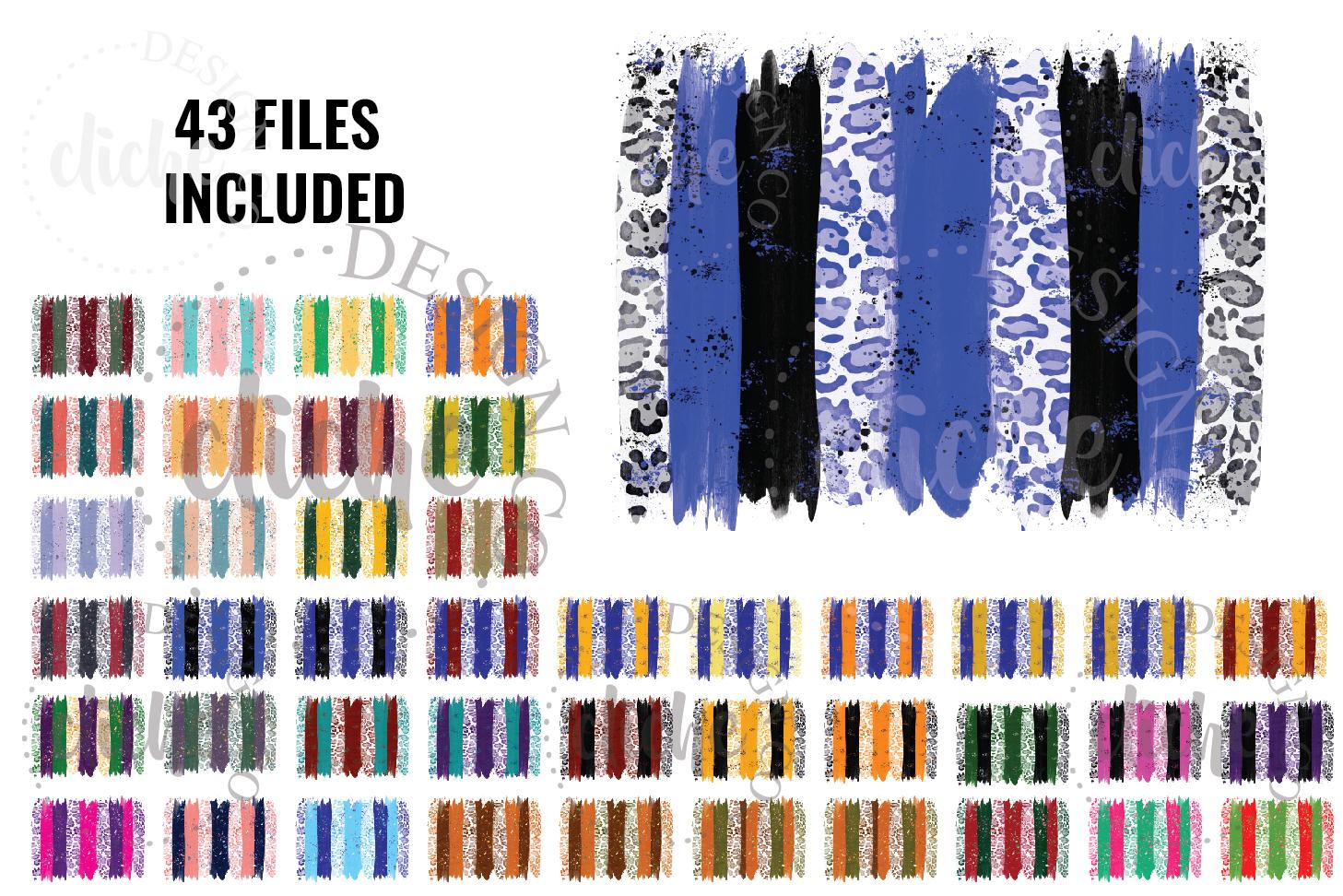 Paint Stroke Sublimation Design Background Bundle example image 1