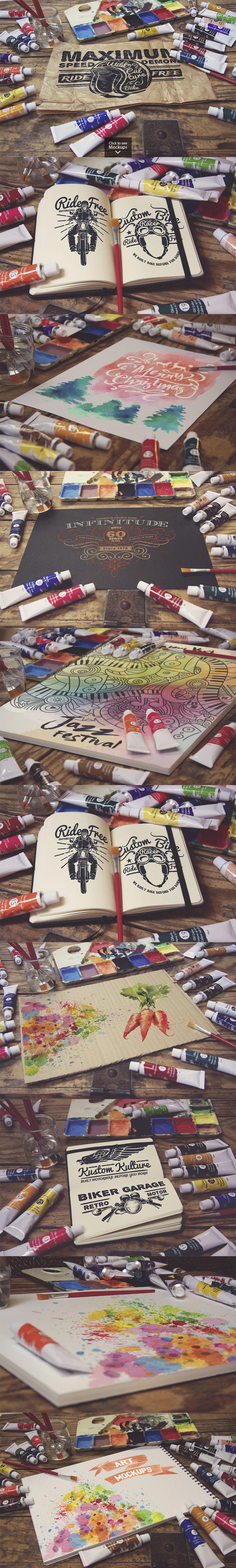 50 Art Mockups Bundle -60OFF example image 2